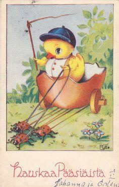 RAMSTEDT DEVADATTA - sulo heinola - Picasa-verkkoalbumit Peter Cottontail, Vintage Easter, Vintage Cards, Joyful, Postcards, Shabby, Foods, Board, Artist