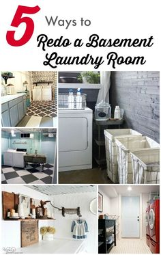 design ideas for that perfect basement laundry room | basement