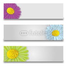 Banner Broken Flowers