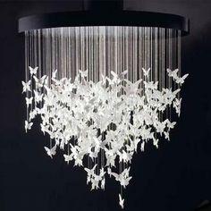 DIY Butterfly Chandelier.