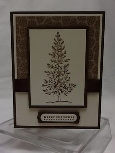 "By Christi Waite. Uses Stampin' Up ""Lovely as a Tree"" stamp set."