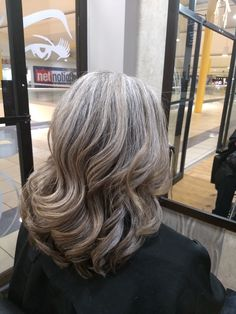 Finally, this is my natural gray hair! No more damaged hair with hair color, highlights, etc...