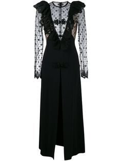 Alessandra Rich lace panel evening dress