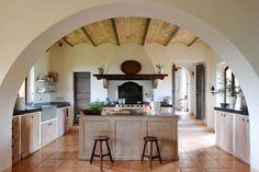 Col delle Noci Italian Villa rustic kitchen