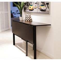 - This space saving folding table is perfect for a small apartment in a city where room is limited. Open dining table up and enjoy a nice dinner with friends and family. Close it half way and use it as a console table or even a desktop. Metal Dining Table, Dining Room Bar, Dining Tables, Console Table, Kitchen Dining, Kitchen Island, Table Desk, Island Table, Outdoor Dining