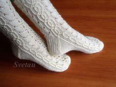 Ravelry: Svetau's Lace socks / Ажурные носочки Lace Socks, My Socks, Ravelry, Fashion, Moda, Fashion Styles, Fashion Illustrations
