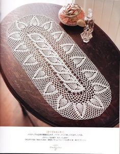 Home Decor Crochet Patterns Part 63 - Beautiful Crochet Patterns and Knitting Patterns Crochet Table Runner Pattern, Free Crochet Doily Patterns, Crochet Tablecloth, Crochet Art, Lace Patterns, Crochet Home, Thread Crochet, Crochet Motif, Crochet Stitches
