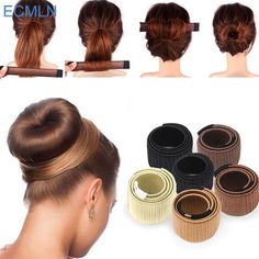 Synthetic Hair Accessories Wig Donuts Bud Head Band Ball French Twist Magic DIY Tool Bun Maker French Dish Made Girls Hair Band Trendy Hairstyles, Braided Hairstyles, Black Hairstyles, Straight Hairstyles, Model Hairstyles, 1920s Hairstyles, Long Haircuts, Girl Haircuts, Natural Hairstyles