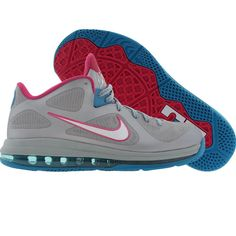 Nike LeBron 9 Low - Fireberry (wolf grey / white / dynamic blue / frbrry). $149.99
