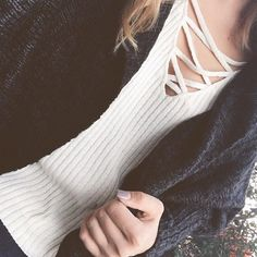 20% OFF Lace Up & crisscross styles! The Rachel Sweater- $24.80 Frostbitten Knit Cardigan- $50 with FREE shipping!