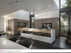 SieMatic offers unique kitchen design, perfect workmanship and individual room solutions - discover space for your ideas in the kitchen. Kitchen Living, Kitchen Decor, Kitchen Dubai, Style Deco, Kitchen Gallery, Contemporary Kitchen Design, Cuisines Design, Home Kitchens, Furniture Design