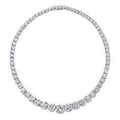 Diamond necklace by Norman Silverman.