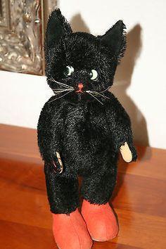 Kersa Kater • 30 cm • schwarz • 1950-60er Jahre • Tom Cat • chat botté | eBay