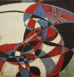 russianavantgarde: Wassily Kandinsky - Geometric study in blue and red,1921