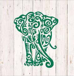 Elephant Decal for Car Elephant Decal Yeti Elephant Decal Silhouette Images, Silhouette Design, Vinyl Crafts, Vinyl Projects, Cricut Vinyl, Vinyl Decals, Car Decals, Wall Stickers, Kirigami