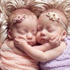 loving twins...