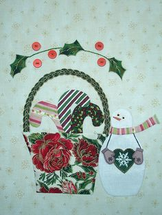 BLOCK 12 - DECEMBER BUNNY HILL BLOCK OF THE MONTH - 2009 by Happy 2 Sew, via Flickr