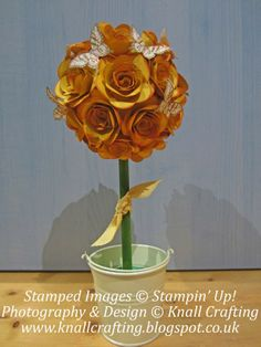 Knall Crafting!: Floral Home Décor with Stampin' Up Spiral Flower Die