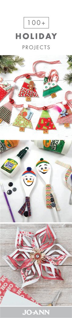 If you're anything like us, then the Christmas season is the perfect time for DIY crafts! So, when the weather gets chilly, check out this collection of Holiday Projects. Tackle everything from getting your home adorned with festive decorations to ma Kids Crafts, Christmas Crafts For Kids, Christmas Activities, Homemade Christmas, Christmas Projects, Holiday Crafts, Holiday Fun, Christmas Holidays, Christmas Gifts