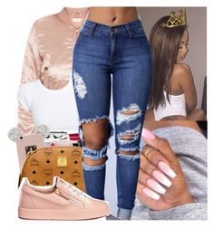 """""""new year, who dis? 😍"""" by envymeeeee ❤ liked on Polyvore featuring MCM and Giuseppe Zanotti"""