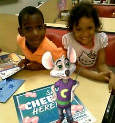Friends forever! We love Chuck E.! #saycheese