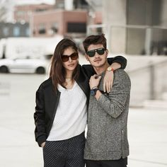 Shlomit Malka and Gregg Sulkin make a handsome in Armani Exchange's fall-winter 2016 advertising campaign