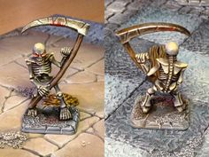 HeroQuest Skeleton Painted Miniatures by crwrene on DeviantArt Advanced Dungeons And Dragons, Dungeons And Dragons Characters, Love Painting, Figure Painting, James Bond Watch, Warhammer Fantasy, Warhammer Aos, Dungeon Tiles, Minis