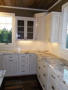 stamped concrete counter tops | Copenhagen granite counter tops and custom built kitchen cabinets in ...