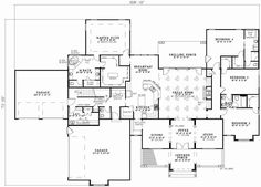 Luxury Style House Plans - 3602 Square Foot Home , 1 Story, 4 Bedroom and 3 Bath, 4 Garage Stalls by Monster House Plans - Plan 12-745
