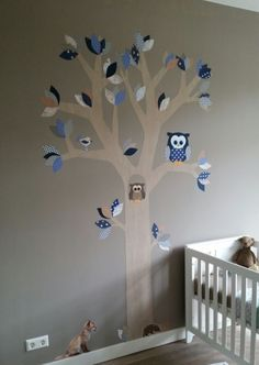 behangboom stoer blauw-grijs-bruin, lichte stam