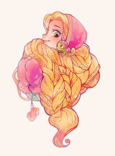 Rapunzel and Pascal Disney Rapunzel, Disney Princess Art, Princesa Disney, Disney Fan Art, Disney Kunst, Arte Disney, Disney Magic, Disney And Dreamworks, Disney Pixar