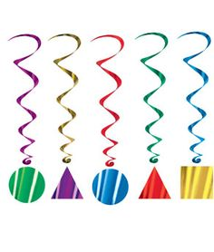 Party Shape Whirls - 5ct #http://pinterest.com/coolglow/