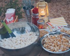 snacks at backyard movie night