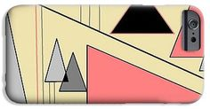 iPhone and Galaxy Cases of 'Pyramids, Cream, Grey, Apricot 2' by Sumi e Master Linda Velasquez