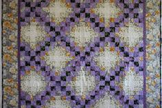 Purple and black irish chain. Stunning combination, perfect quilt to finish a room or build a room around. Professionally quilted by Simi Quiltworks. Free Motion Quilting, Crazy Quilting, Irish Chain Quilt, Signature Quilts, Nine Patch Quilt, Purple And Black, Quilt Blocks, Projects To Try, Blanket