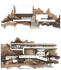 concept SKETCH almost digital pixel colouring effet architecture