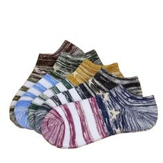 5Pair Mens Funny Socks Boat Slipper Socks Cotton Colorful Happy Socks Compression Chaussette Homme Lot Calcetines Invisible
