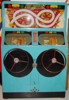 1948 International Mutoscope Cross Country Race coin operated driving arcade game