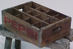 1960s Pepsi Cola Old Wood Soda Crate Box for by Bottlessoldcheap...for displaying my shells