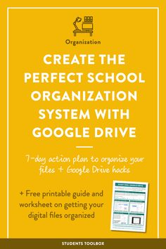 Frustrated by how messy your digital files are? Here are some Google Drive organization hacks and app recommendations for high school and college students! Make sure to also download the printable guide and take a look at the 7-day action plan!