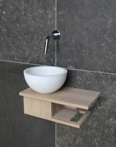 Large is a luxury sometimes. This tiny gem would get the job done and allow a powder room where there was none before. Modern Toilet, Modern Bathroom, Small Bathroom, Master Bathroom, Wc Design, Toilet Design, Interior Design, Small Toilet Room, Toilet Sink