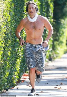 Shirtless jog: Brad Falchuk put his toned dad bod on display Monday, as he worked up a swe... Falling In Love Again, Man Crush, Jogging, Love Story, Crushes, Sporty, Display, Shit Happens, Celebrities