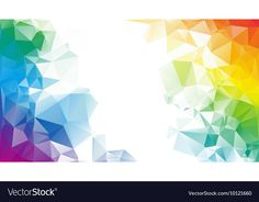 Colorful rainbow polygon background or vector frame — Stock Illustration Powerpoint Background Design, Background Design Vector, Geometric Background, Background Templates, Abstract Backgrounds, Wallpaper Backgrounds, Certificate Background, Certificate Design Template, Page Borders Design
