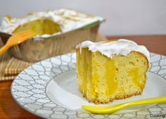 Lemon poke cake | Cuuking! Recetas de cocina