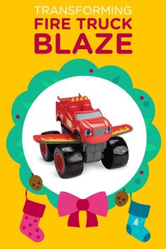 You could win this Transforming Fire Truck Blaze vehicle during the 12 Days of Nick Jr. Holiday Sweepstakes!