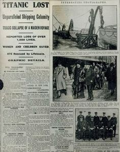 The Titanic The Dragon in the Citadel read the newspaper reports about the sinking of Titanic in my book, Angel War.