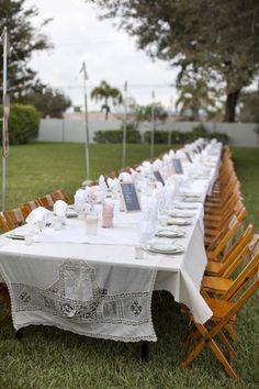 one loooooong reception table | Millie Holloman