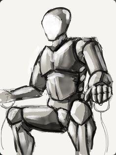 Faceless robot