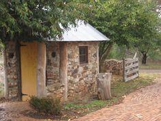 Stone hut in Tasma Gardens, Daylesford, Victoria, Australia  www.TasmaHouse.com