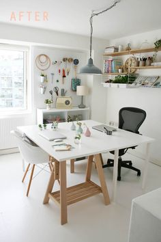 33 Craft Room Storage Projects for Your Home office. Craft Room Storage Projects For Your Home Office Your office space does not need to be huge! Regardless of the size of your house, you ought to be […] Home Office Storage, Craft Room Storage, Home Office Design, Home Office Decor, Home Decor, Office Ideas, Lp Storage, Ikea Craft Room, Office Inspo